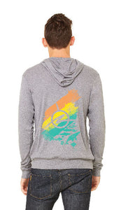 Synchronicity Grey Triblend Full Zip Hoodie- Back View
