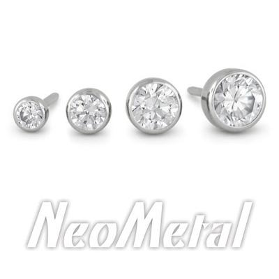 Neometal Bezel Set Gems - 3mm