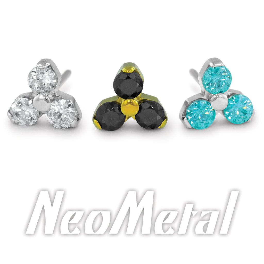 Neometal 18g Threadless Trinity
