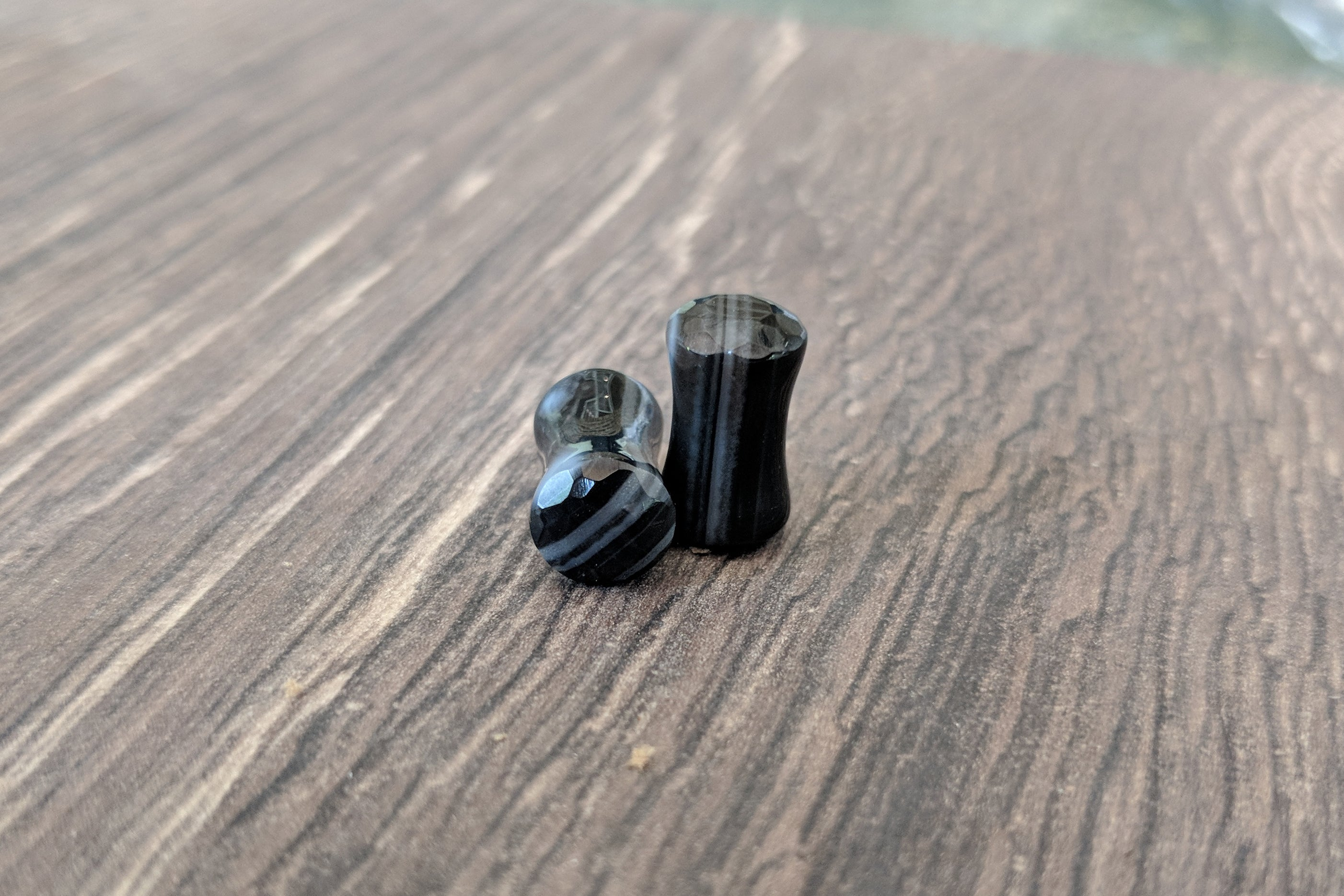 Black Tibetian Agate Plugs