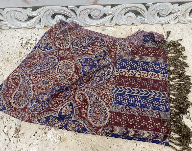 Silky Soft Pashmina Scaves with Paisleys