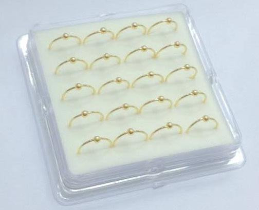 Gold Vermeil Nose Hoops