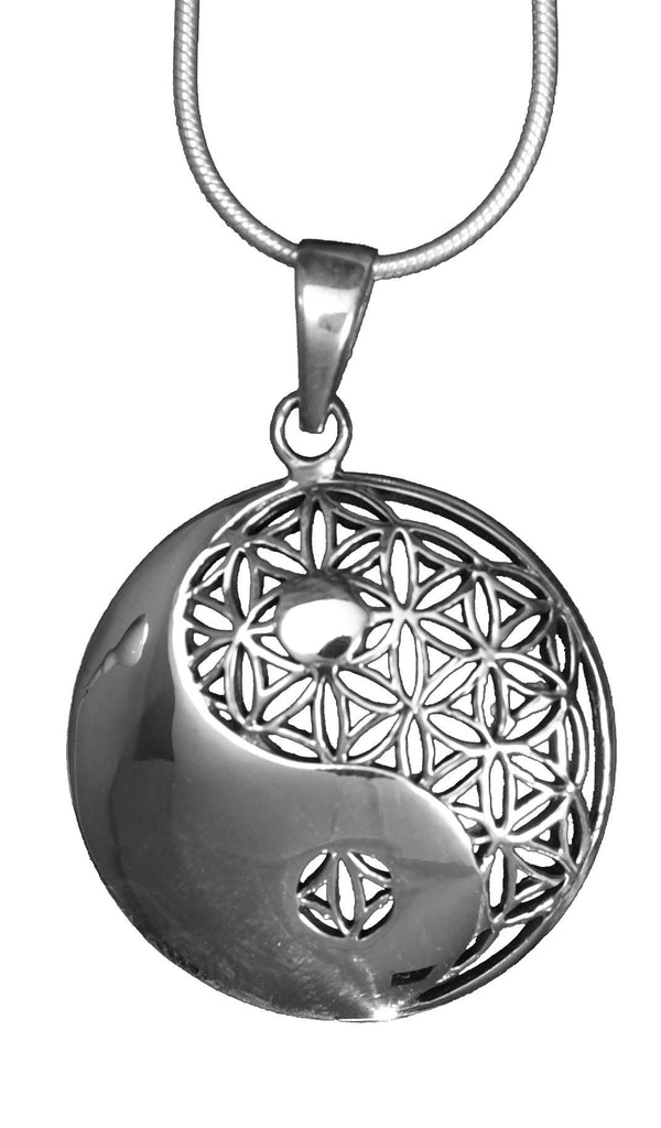 Ying and Yang Flower of Life Pendant (Large)