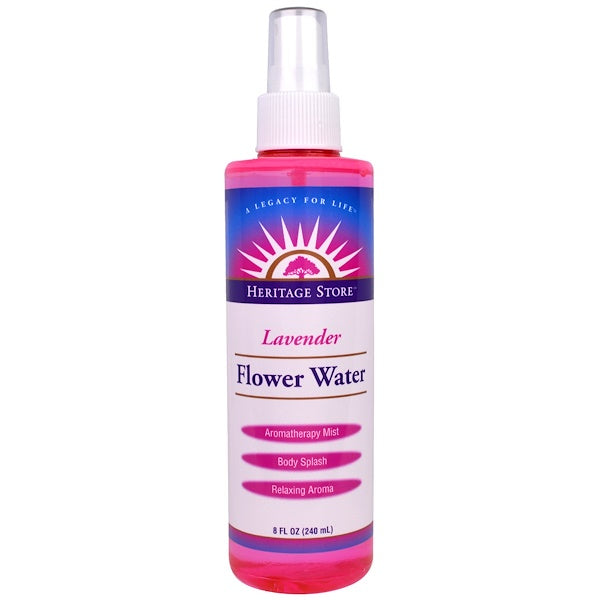Heritage Store Lavender Flower Water, 4 or 8 Ounce