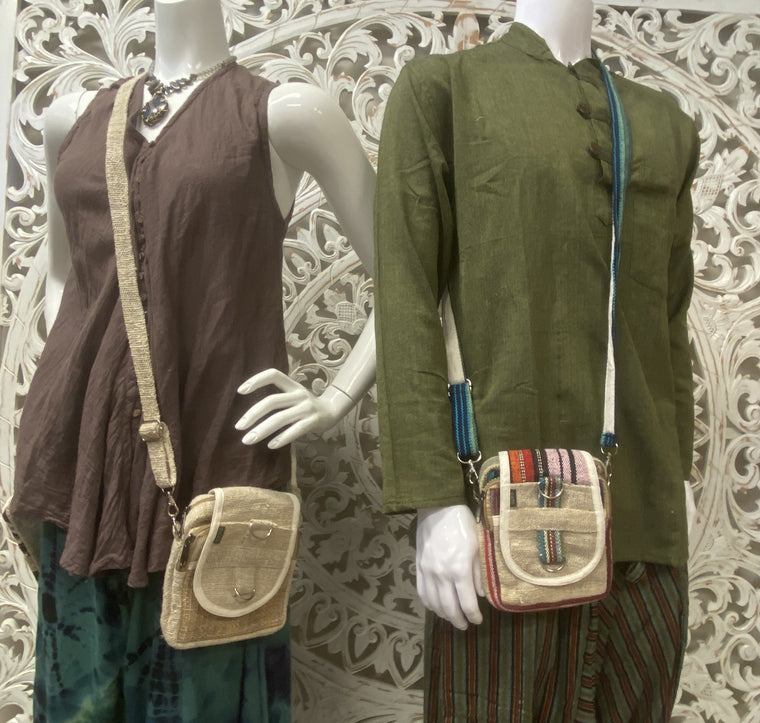 Unisex Hemp Shoulder Bags - Available in 2 styles 6