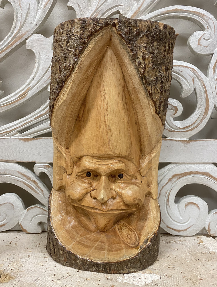 Parasite Wood Gnome Wall or Shelf Carving