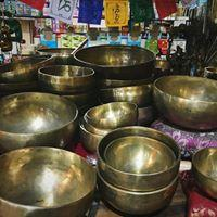 Seven Metal Indian Singing Bowls - Hand Hammered