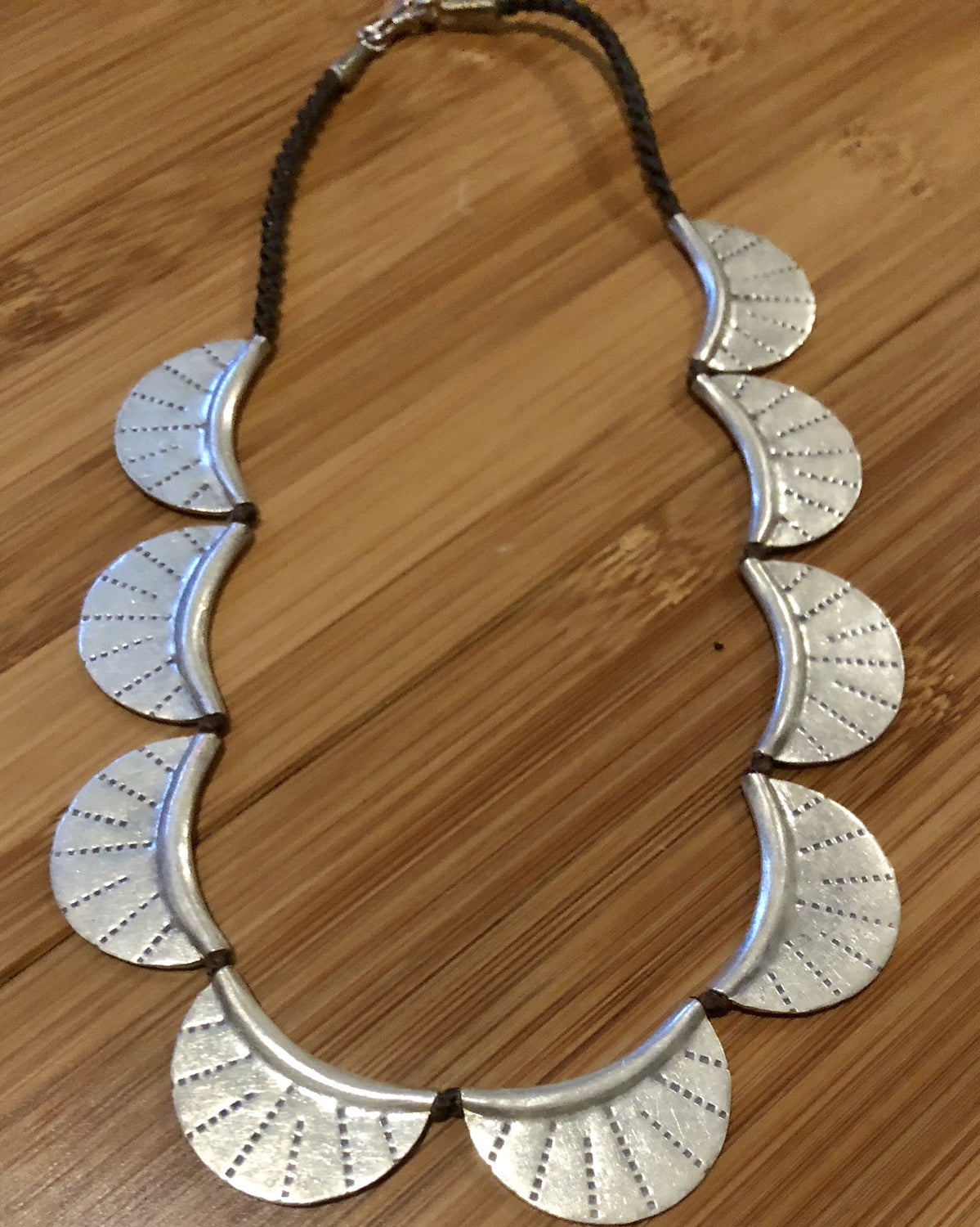 Handmade Sterling Silver Thai Hilltribe Moon Necklace