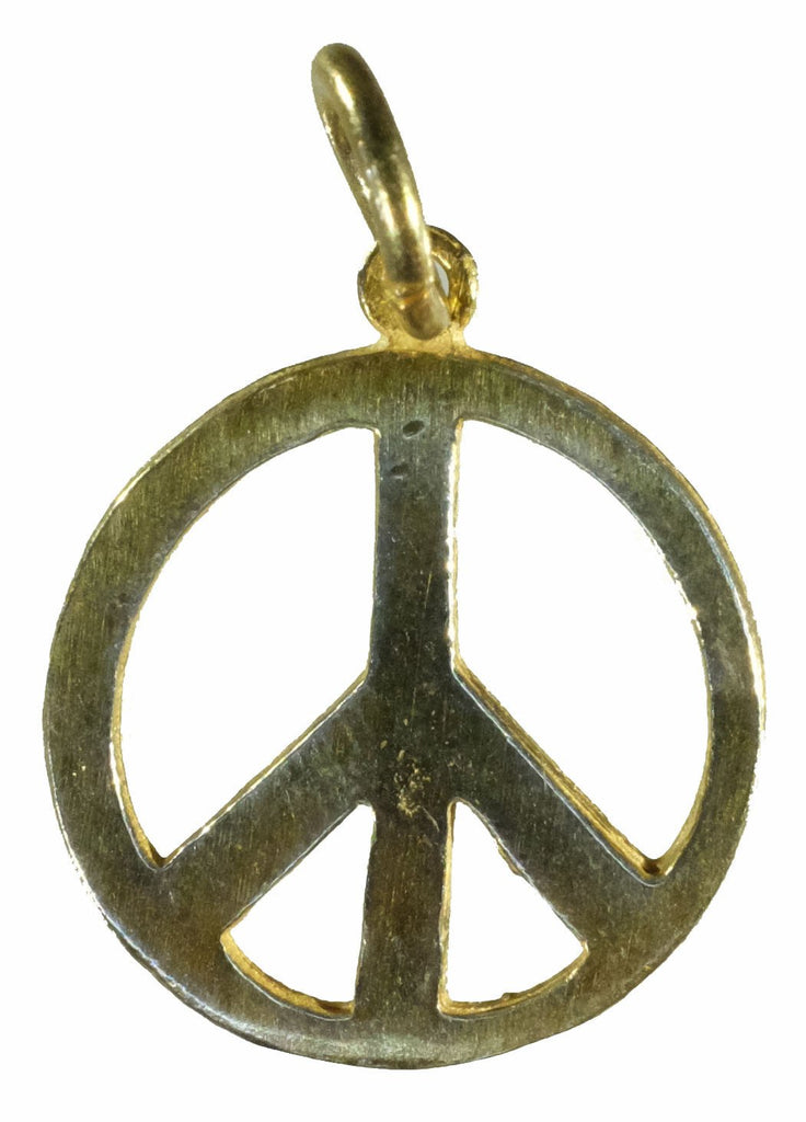 Vermeil Peace Sign Pendant (Large)