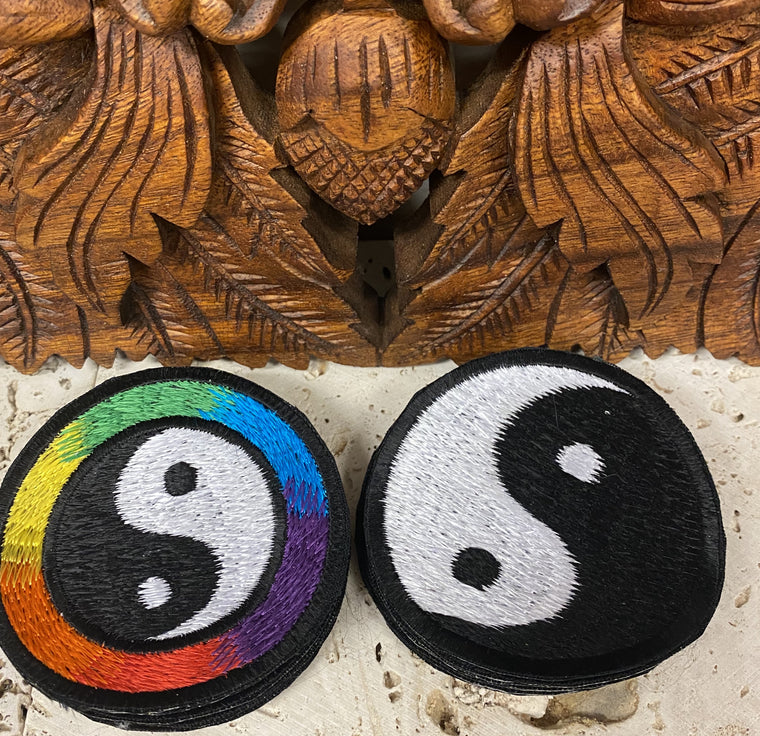 Handmade Yin & Yang Embroidered Patches from Nepal