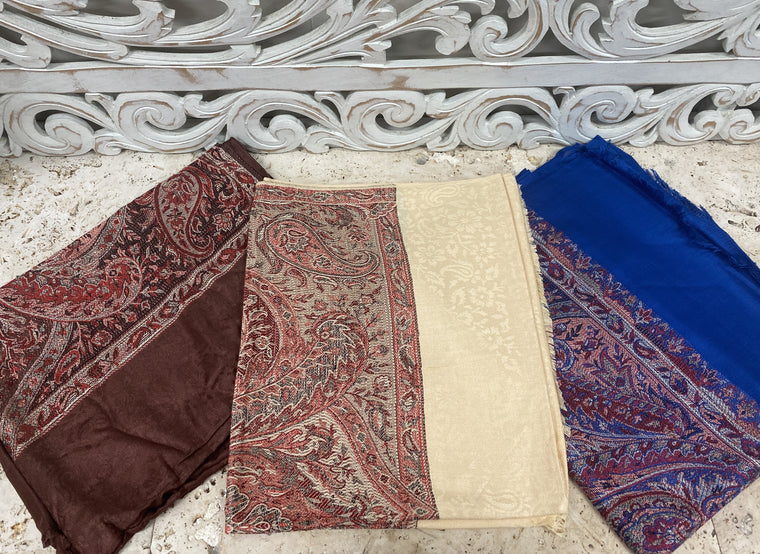 Silky Soft Pashmina Scaves w Traditional patterns