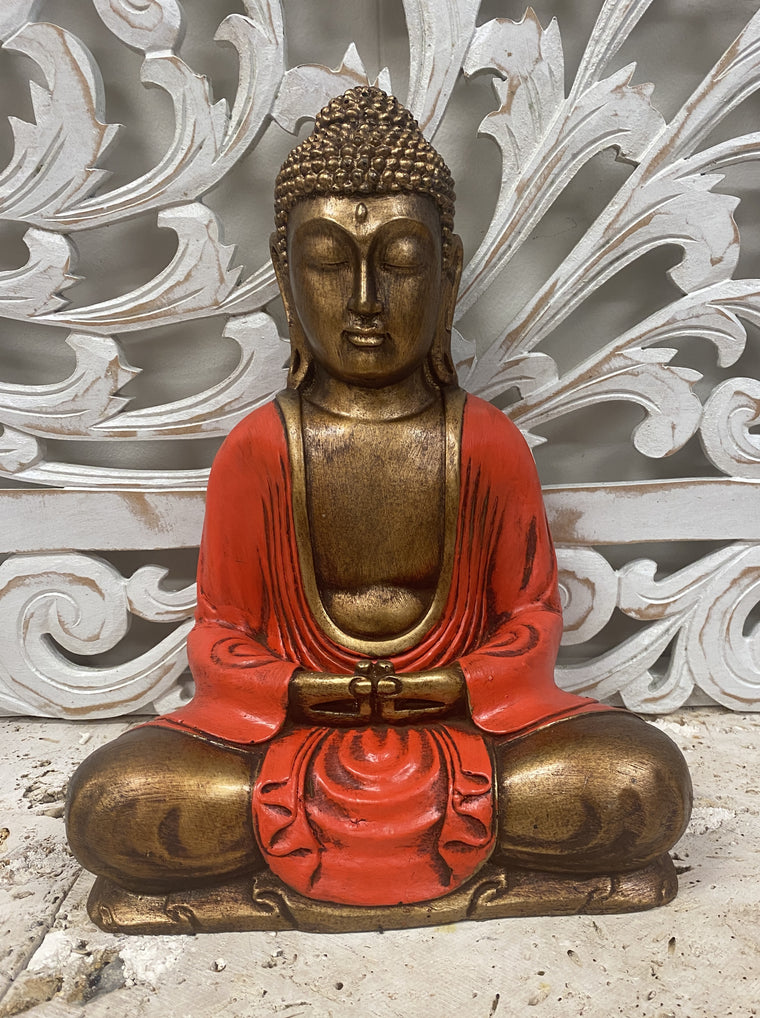Hand Painted Resin Meditating Buddha Statues - Available in 3 colors