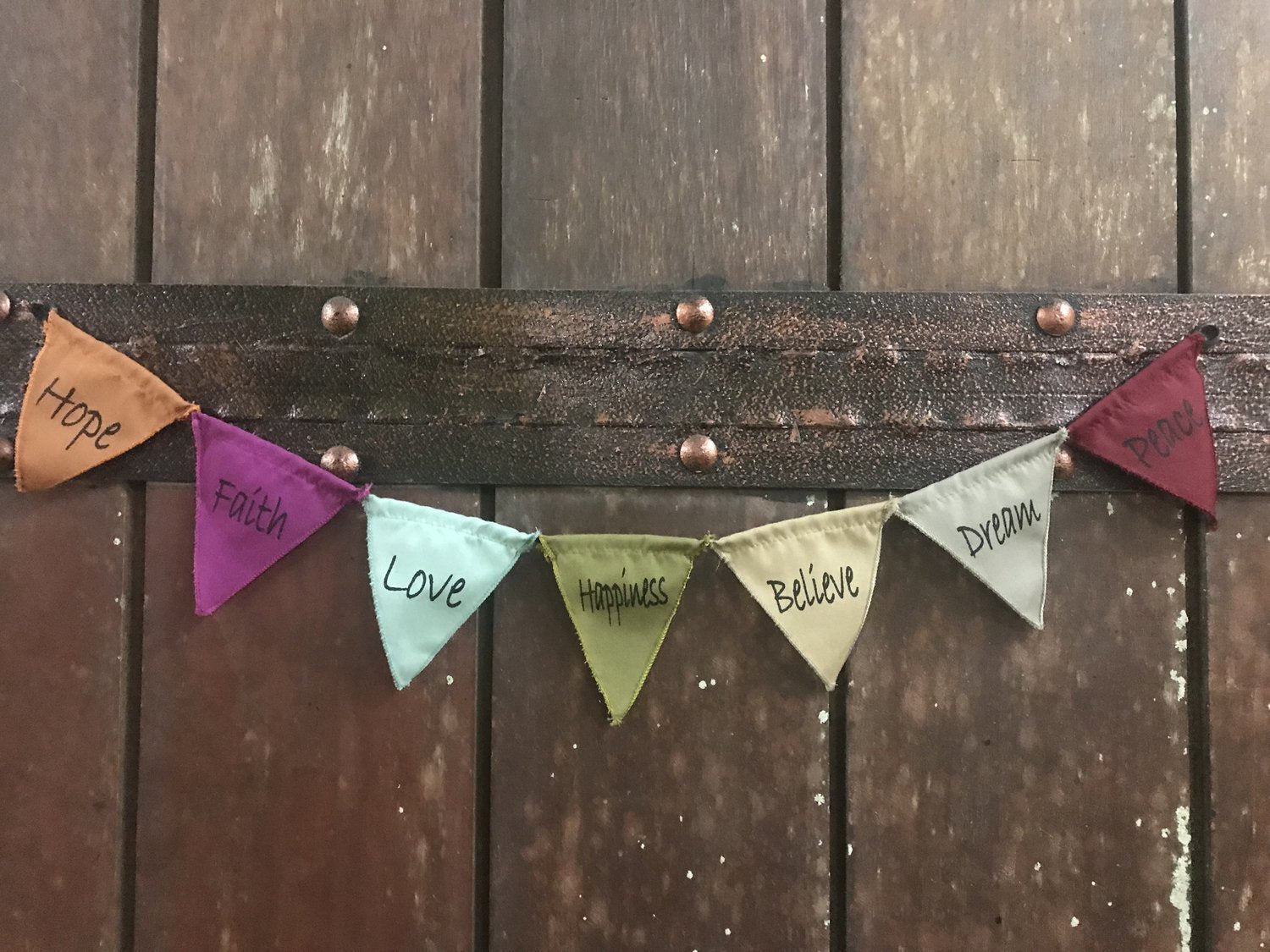 Mini Magnetic Blessing Prayer Flags 2' String- Vintage Colors