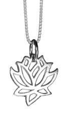 Sterling Silver Hand Cut Lotus Pendant