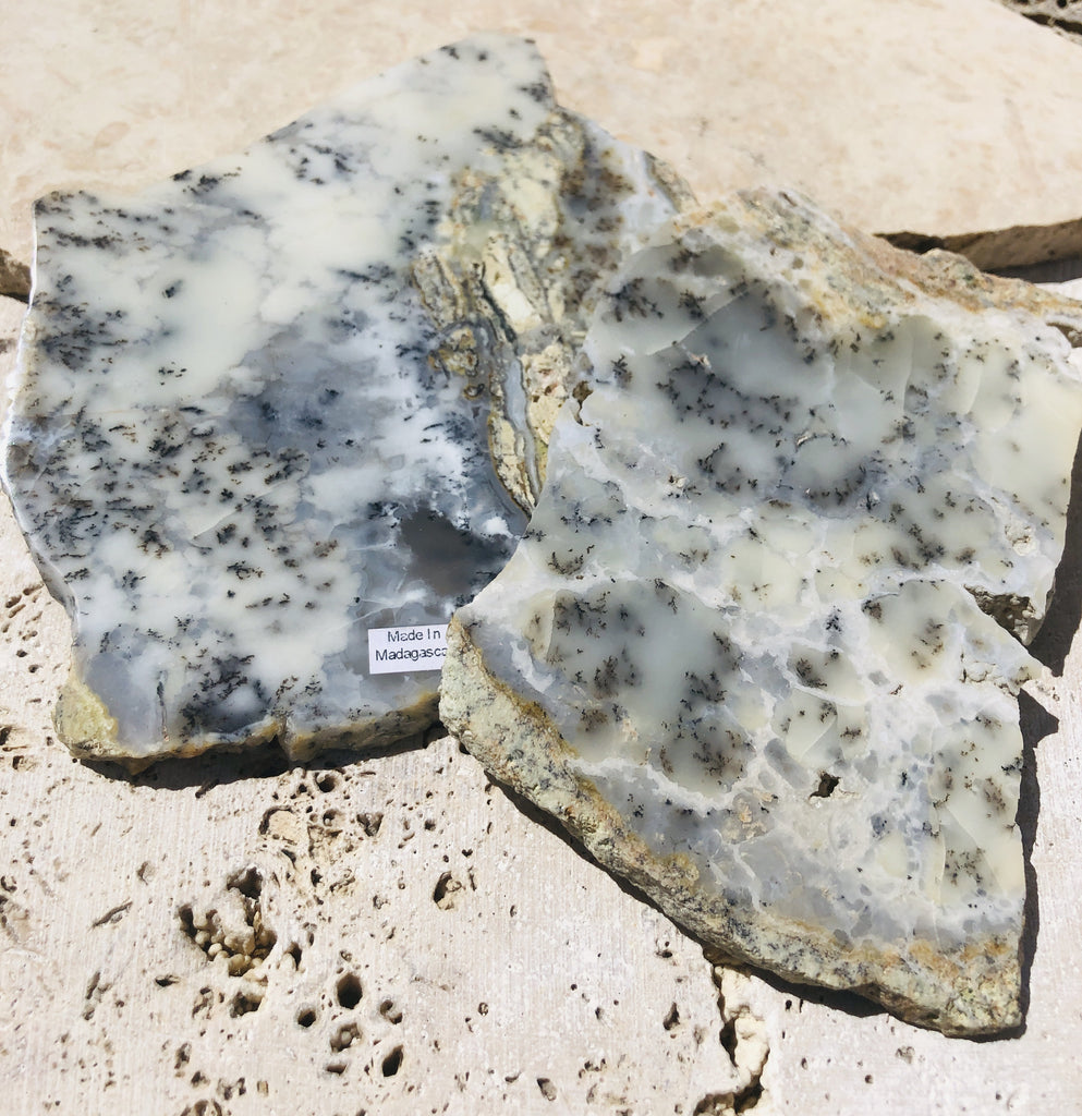 Dedritic Agate Natural Edge Slabs