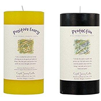 "Herbal Magic Reiki Charged Pillar Candles 3""x6"" - Available in 19 Scents"