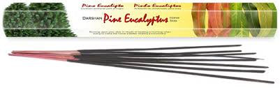 Darshan Pine Eucalyptus Incense 20 stick Hex Pack