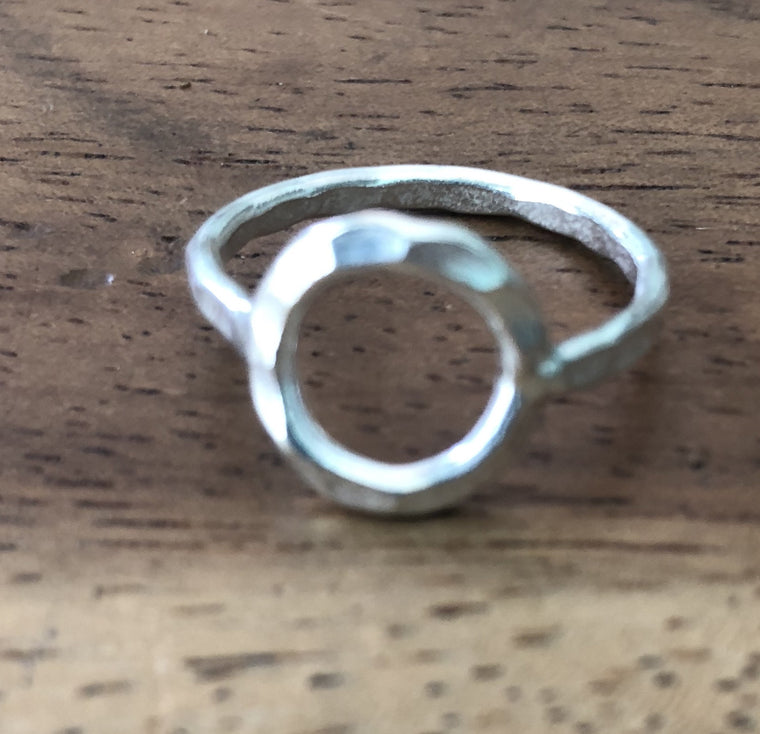 Handmade Sterling Silver Thai Hill Tribe Ring circle