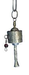Mini Tibetan Prayer Wheel Pendant