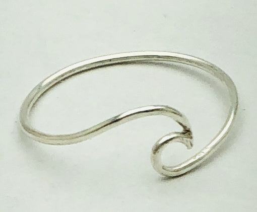 Sterling Silver Midi wave ring
