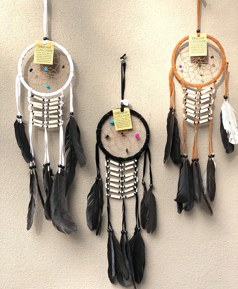 Suede Dream Catchers Bone Bead Breast Plate -Available in 3 colors