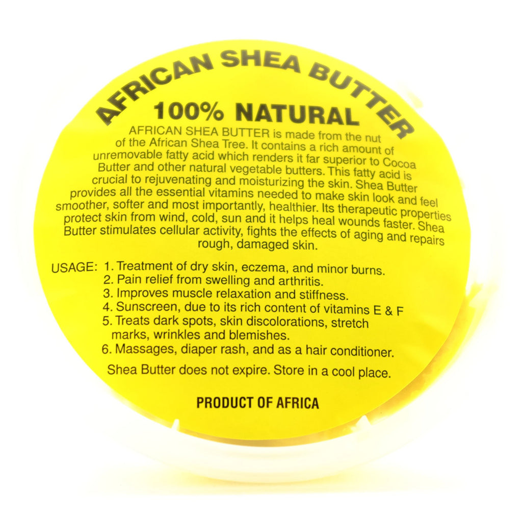 100% Pure African Shea Butter 6 or 12 oz