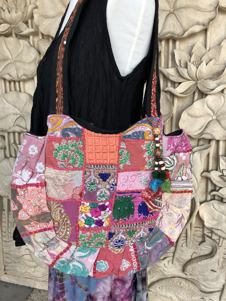 Rajasthani Recycled Patchwork Purse with Tassels