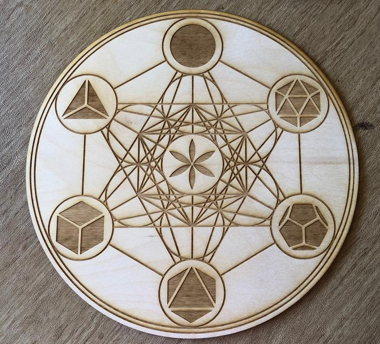 Metatrons Cube Crystal Gridding Boards 3