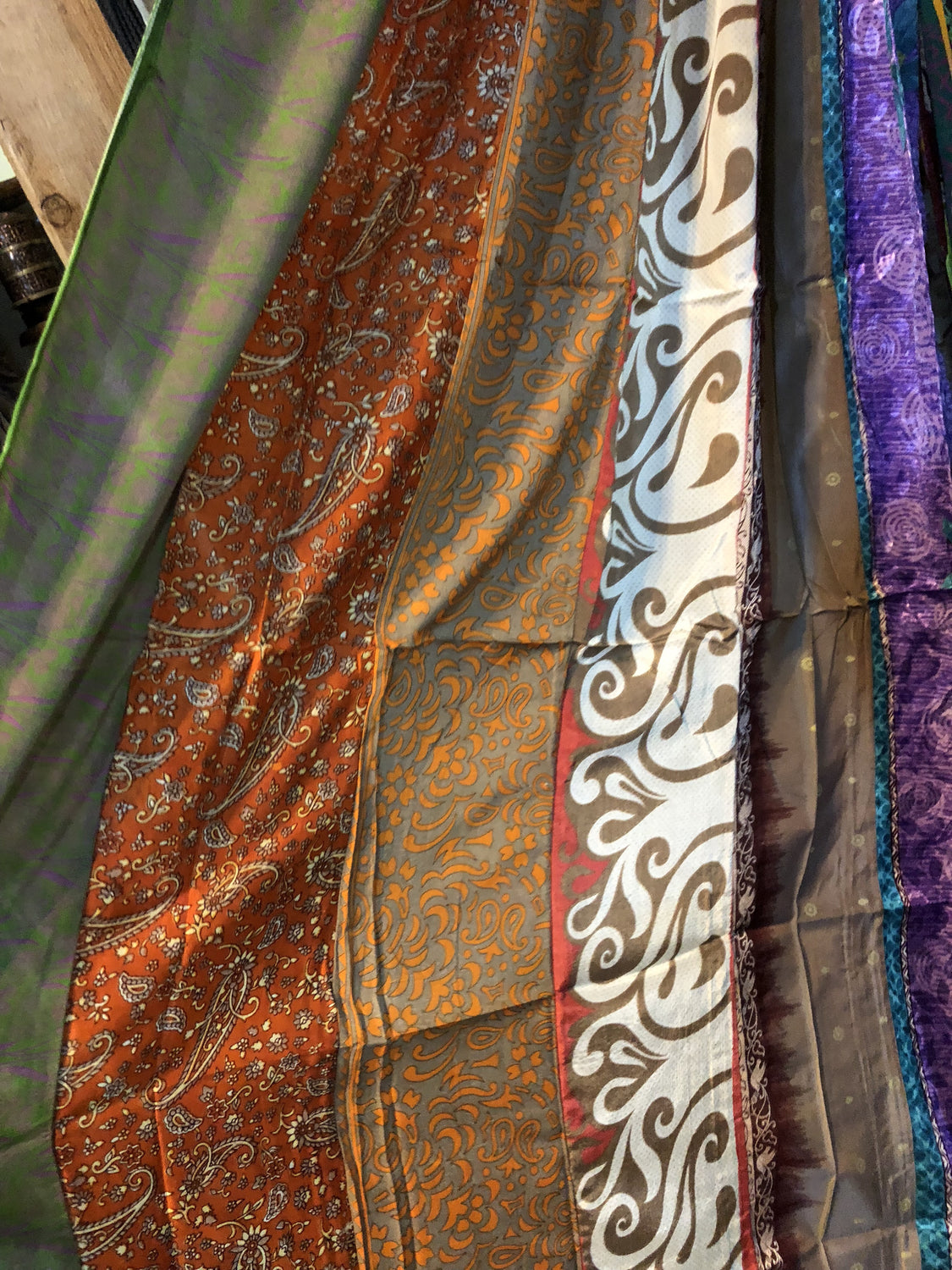 Silk Patchwork Curtain Panels