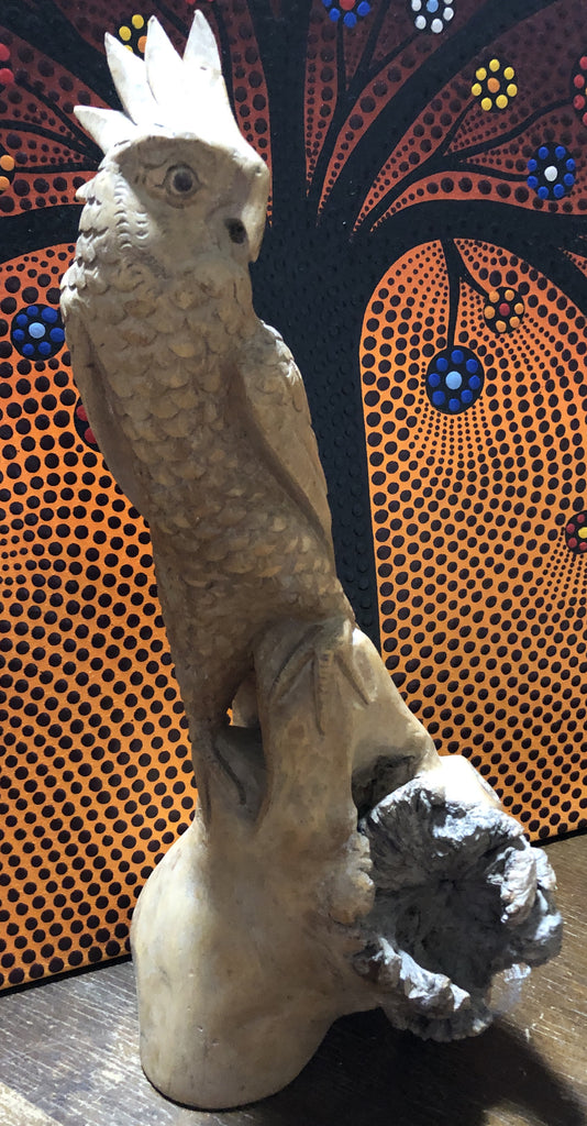 Large Parasite Wood Parrot Carvings