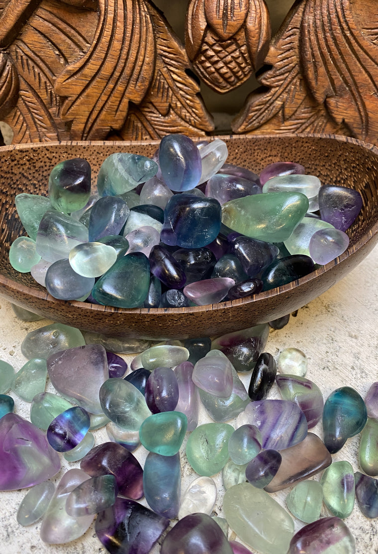 Flourite Tumbled Stones in 3 sizes