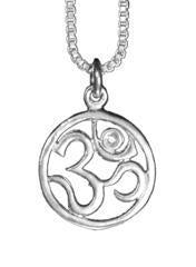 Sterling Silver Om Cut Out Pendant