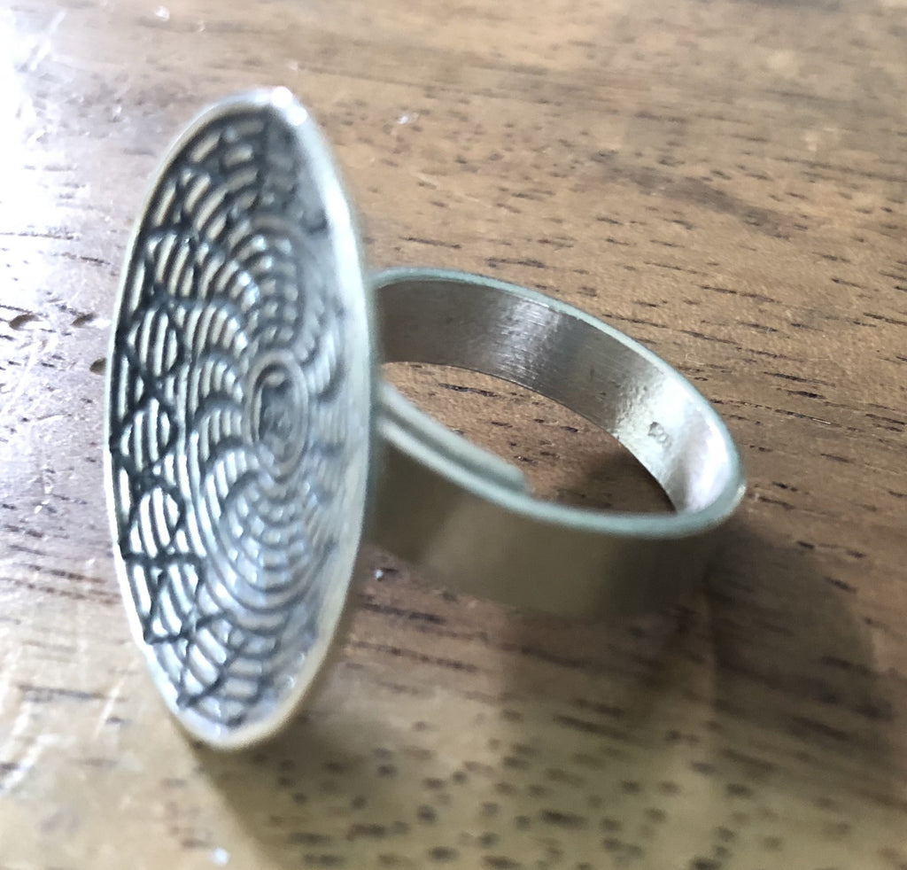 Handmade Sterling Silver Thai Hill Tribe Bowl Ring