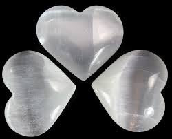 Selenite Hearts - Available in 5 Sizes
