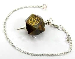 Engraved Pendulums Pentagram or Cho Ku Rei - Available in 5 Stones