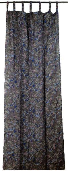 Grey Paisley Curtain Panels