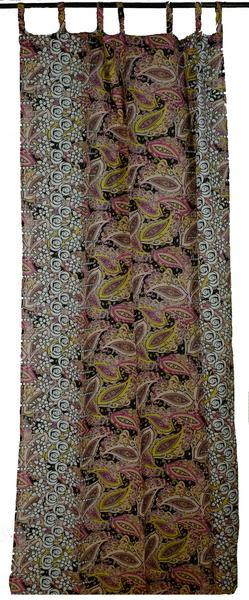 Border Print Paisley Curtain Panels
