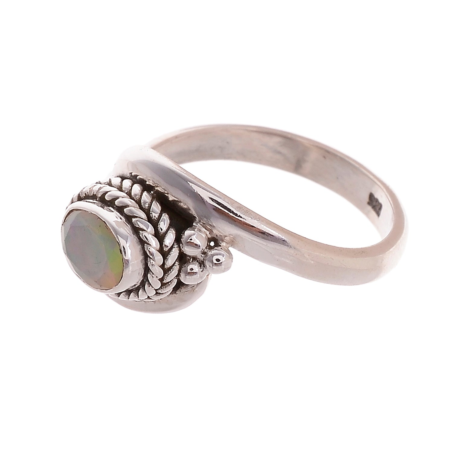 Sterling Silver Braided Wire Gemstone Ring - Available in 8 stones