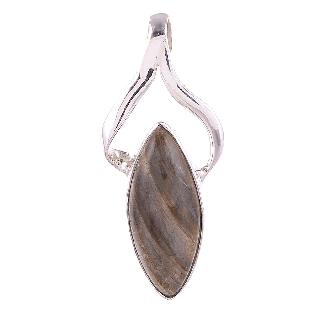 Sterling Silver Modern Gemstone Pendant - Available in 14 Stones