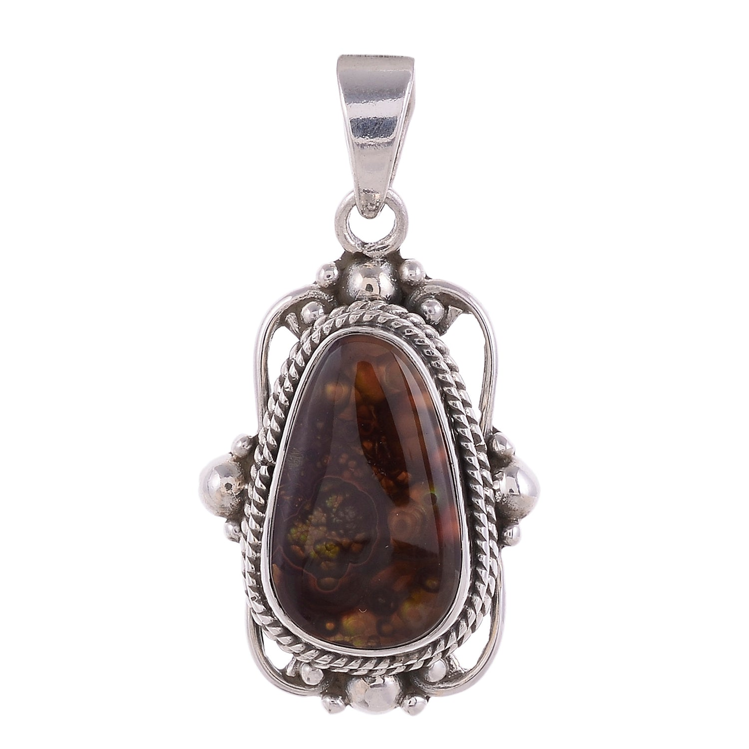 Sterling Silver Victorian Lace Pendant  - Available in 15 Stones