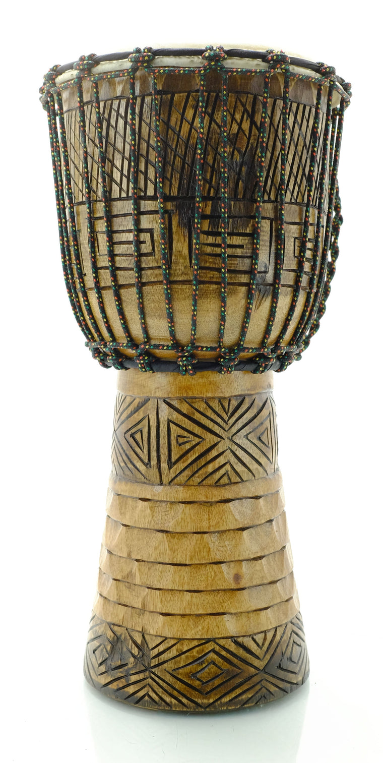 Hand Carved Mahogany Djembe Drum
