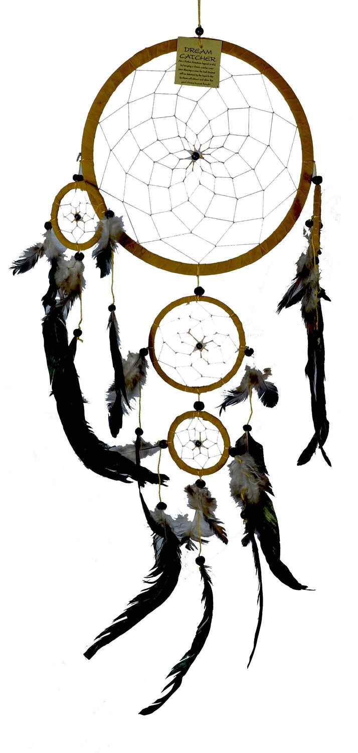 Large Suede Dream Catcher White, Black or Brown