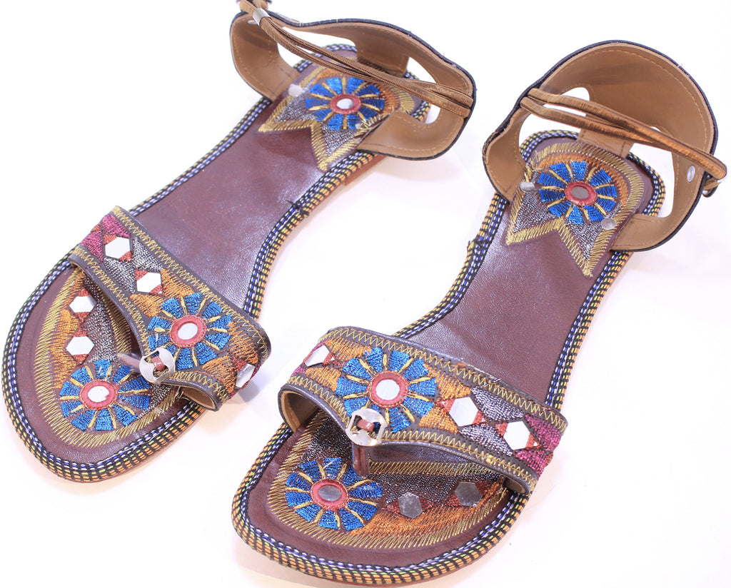 Hand Embroidered Sandals from India
