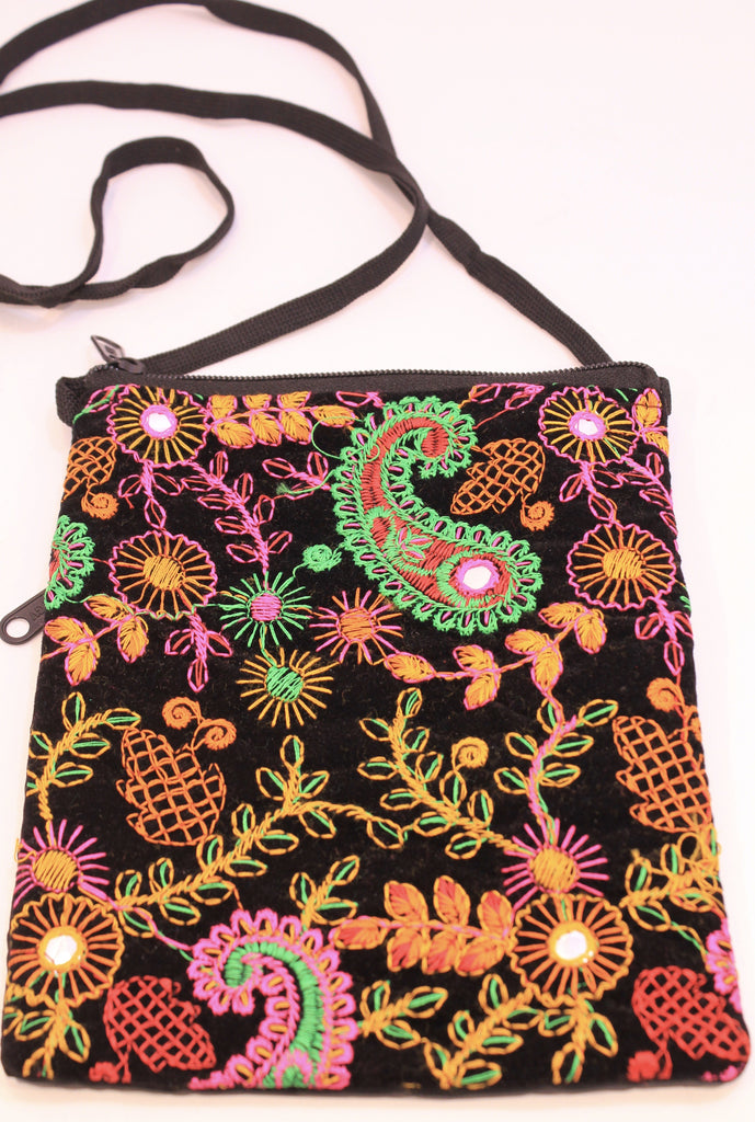 Paisley Embroidered Passport Bags