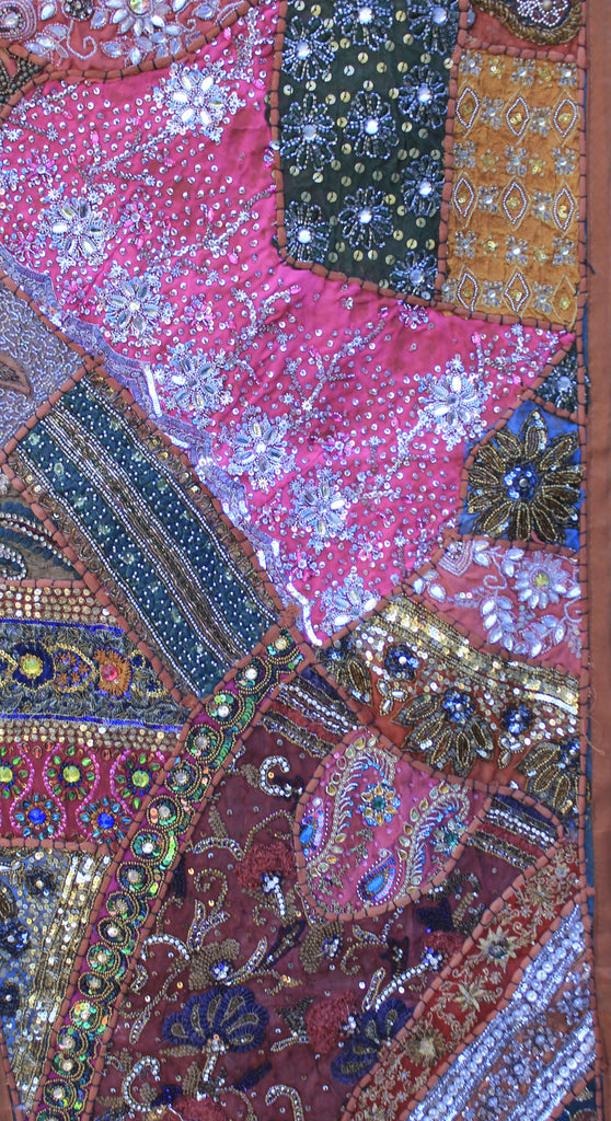 "Rajathani Patchwork Wall Hangings Heavy Embroidery 39"" x 60"" Large"