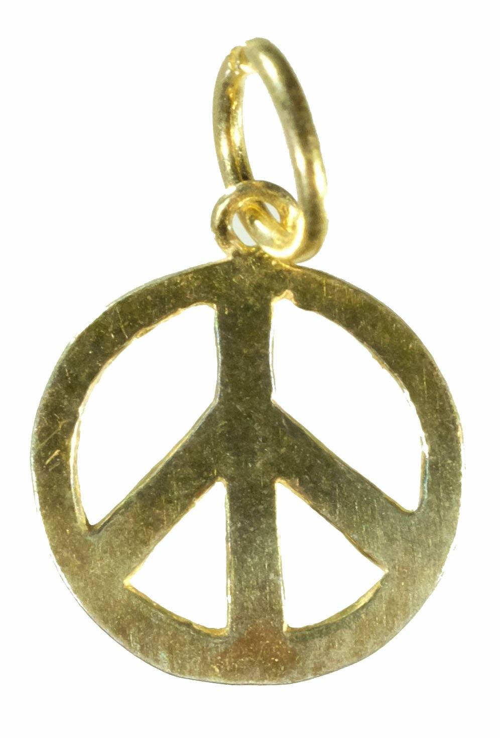 Vermeil Peace Sign Pendant (Small)