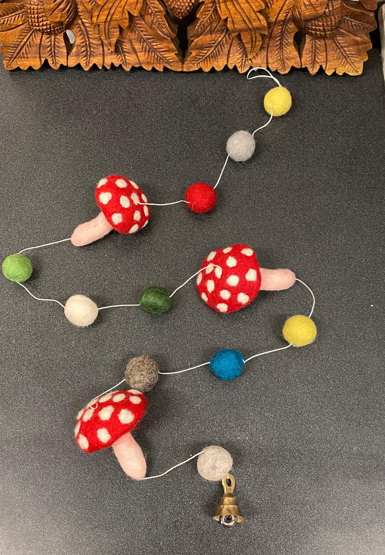Hand Felted Mushroom Mobiles- Supports Women in Nepal