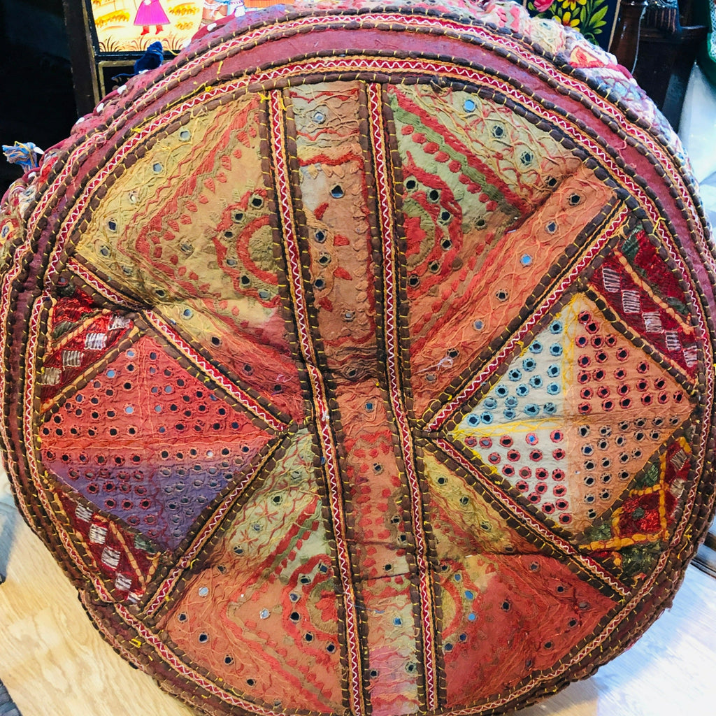 Large Embroidered Rajasthani  Floor Pillows  - 2 sizes
