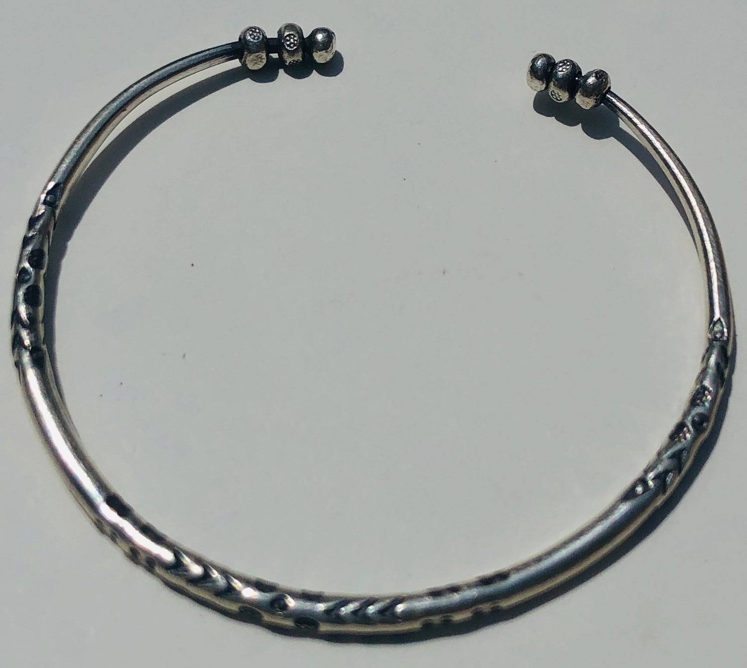 Sterling Silver Hill Tribe Hammered Cuff Bracelet