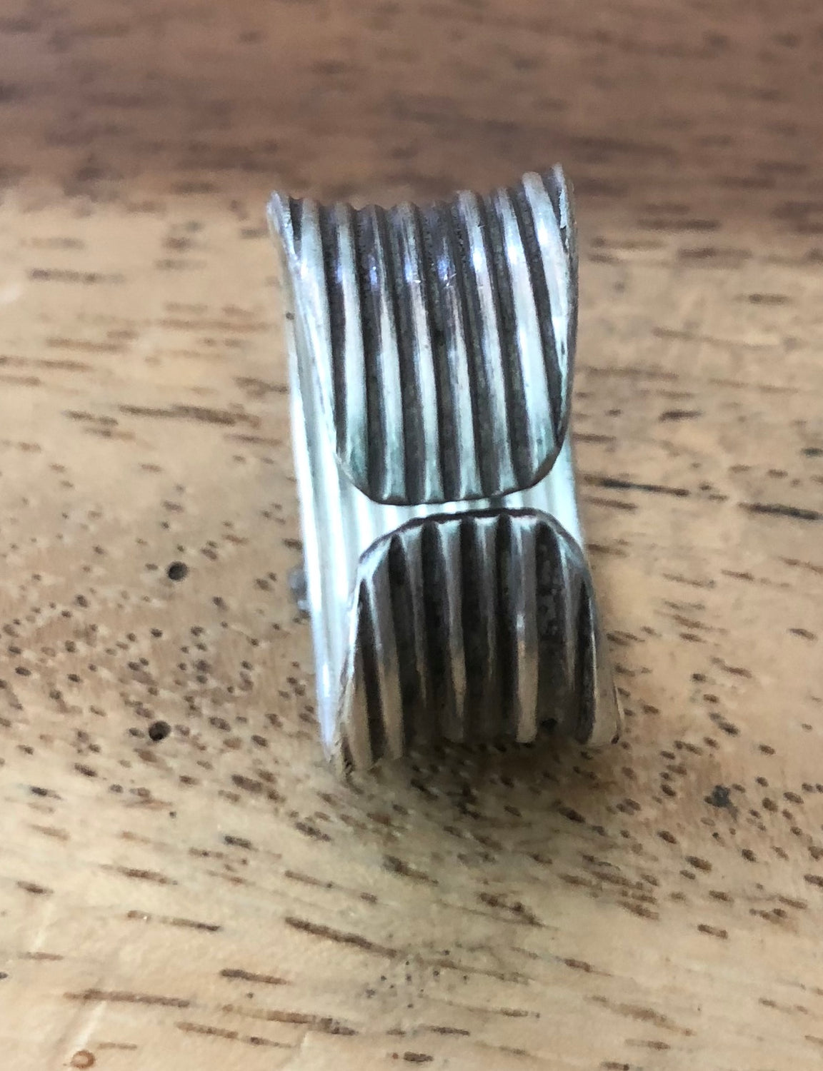 Handmade Sterling Silver Thai Hill Tribe  Band Ring Adjustable 7-9